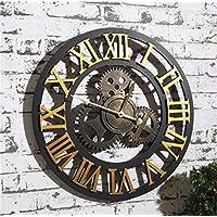 HUIJU Creative Octogonal Dormitorio 3D Silencio Reloj réplica Relojes de Pared Reloj de Pared Adhesivo para