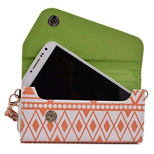 Kroo Pochette/étui pour téléphone Urban Style Tribal pour Blackberry Z3/Z30 Brun White and Orange