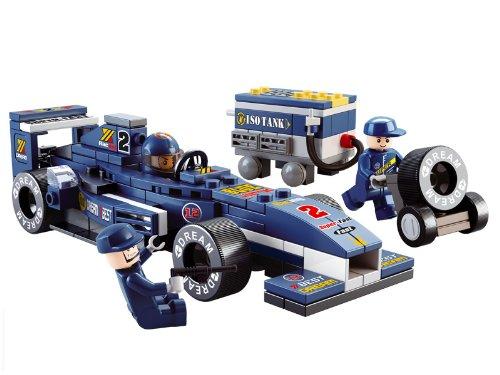 Sluban Formula 1 - M38-B0351 - F1 Racing - Voiture Bleue + Mécanicien