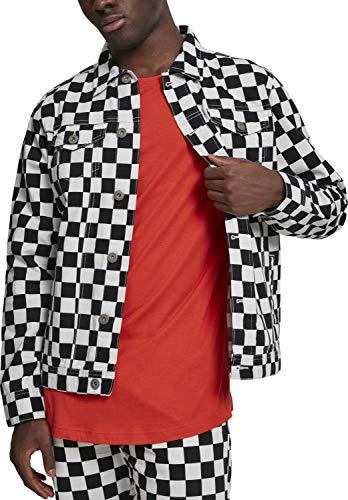 Urban Classics Herren Jacke Check Twill Jacket, Mehrfarbig (Chess 01683), Medium (Herstellergröße: M) -