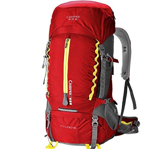 zaino esterno/60Lsacchetto di alpinismo/Zaino di spruzzi/Pacchetto a piedi-rosso 60L rosso