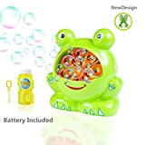 Morkka Bubble Machine Automatic Durable Bubble Maker Blower for Kids Frog Shape Easy to Use 500 Bubbles per Minute for Christmas, Parties, Wedding Outdoor or Indoor Use 4 AA Battery(Include) Operated