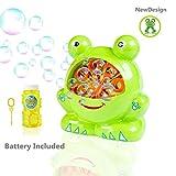 Morkka Bubble Machine Seifenblasenmaschine Automatische dauerhafte Bubble MakerSpielzeug Indoor und Outdoor Bubble Maker Spiele für Jungs Mädchen Baby Perfekt für Partys 4 AA Batterie(umfassen)