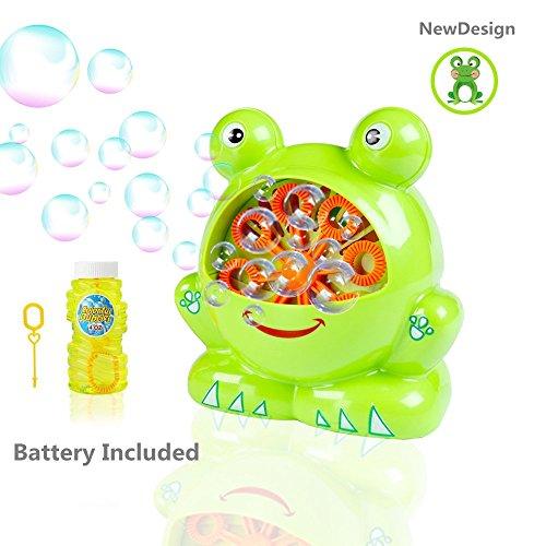 Morkka Bubble Machine Seifenblasenmaschine Automatische dauerhafte Bubble Maker Gebläse für Kinder Frosch Form Einfach zu 500 Bubbles pro Minute für Weihnachtsfeiern Hochzeit Outdoor oder Indoor verwenden 4 AA Batterie (umfassen)betrieben