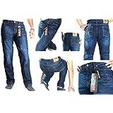 los pantalones vaqueros de la motocicleta. Pantalones para hombre de la moto. Aramida forrado. Protectores libres. 38W x 30L