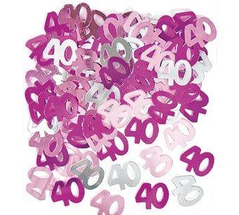 0th Birthday Pink Table Confetti by Partyrama (Rosa 40th Geburtstag Dekorationen)