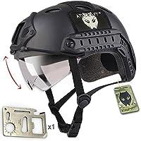 Army Combat SWAT tipo PJ estilo Diseño militar de pareja de casco Fast con gafas para Paintball CQB de aire comprimido