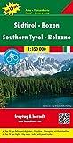 Südtirol - Bozen, Autokarte 1:150.000, Top 10 Tips, freytag & berndt Auto + Freizeitkarten -