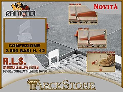 ARCKSTONE 1 2000 bases 3-6 mm pour fuite 1,5 mm Revêtement de sol carrelage Pierre (Pinza Delle Mattonelle)