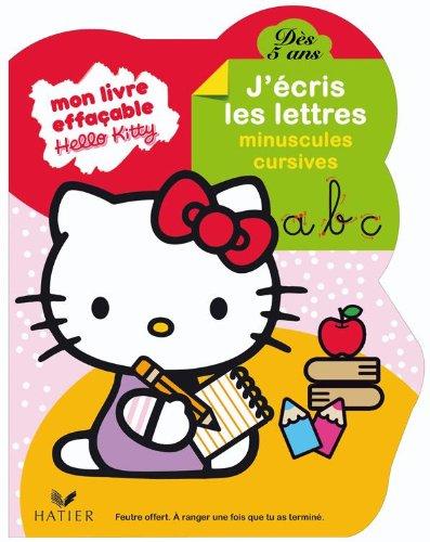 Hello Kitty - J'écris les lettres minucules cursives dès 5 ans - livre ardoise