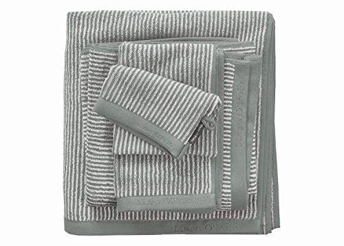 Marc O'Polo Handtuch 730007-202-070 Timeless Tone Stripe, 50 x 100 cm, 100% Baumwolle, grün/weiß