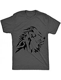 43fc1438585e1 8TN tribal lion side face flat mixte enfant T Shirt - charbon - 3 ans