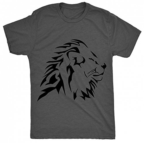 8TN tribal lion side face flat Herren T Shirt - Holzkohle - XX-Large