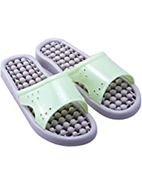 NOVICZ Acupressure Slippers Sandals for Pain Relief & Total Health Care / Slimming SPA Massage Shoes Slipper Bathroom Slipper Size : MEDIUM (Green)