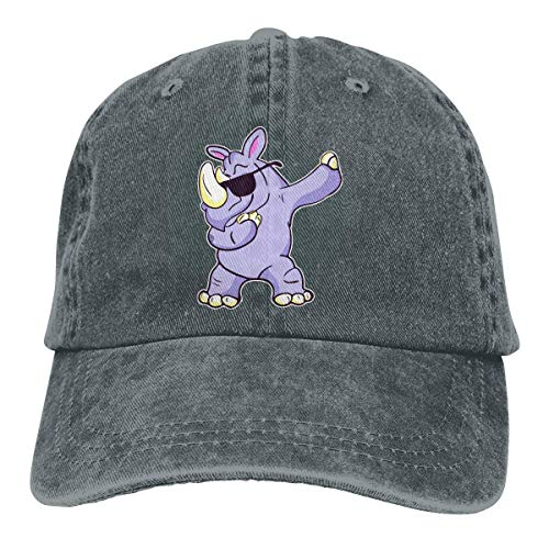 Mütze Dabbing Rhino Men's Women's Adjustable Baseball Hat Yarn-Dyed Denim Sun Hat Sports Cool Youth Golf Ball Unisex Cowboy hat Fedora Beach Hiking Skull 3D Printing caps ()