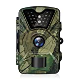 Trail Camera, Hykamic 12MP 1080P HD Game&Trail Camera Waterproof IP66 Wildlife Scouting Camera with Infrared Day&Night Version Surveillance Camera