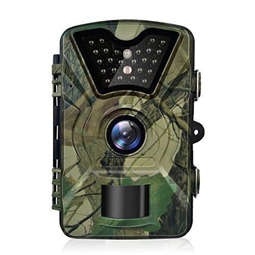 Trail Kamera, hykamic 12MP 1080P HD Game & Trail Kamera Wasserdicht IP66Wildlife Jagd Pfadfinder Kamera mit Infrarot Tag & Nacht Version Digital Überwachungskamera