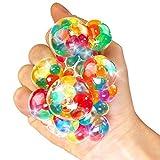 German Trendseller - 12 X Ultra Squishy - Arcobaleno - Palla da quetch, nuovo - Marble Glibber Ball, pensierino per compleanno bambini, anti-stress - Bubble Ball, 12 pezzi