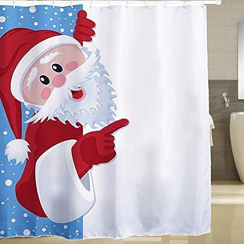 candora Père Noël Père Noël salle de bain douche rideau de douche, imperméable, massif, Sacs (Ombra Stripe Tie)