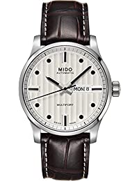 Mido Herren-Armbanduhr XL Multifort Analog Automatik Leder M0054301603180