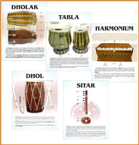 indischen Musikinstrument Poster