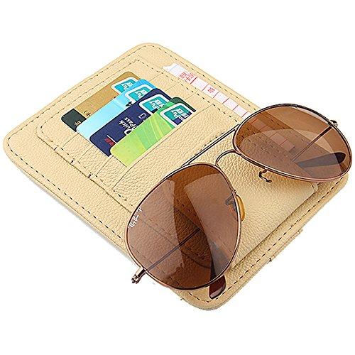 Auto CD/DVD-Halter Disc PU-Leder Storage Fall Sonnenbrille Organizer Sonnenblende Sonnenschutz Hülle Wallet Clips