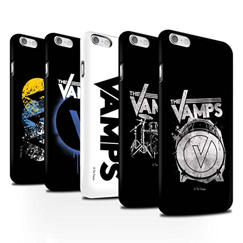 Offiziell The Vamps Hülle / Matte Snap-On Case für Apple iPhone 6S / Pack 6pcs Muster / The Vamps Graffiti Band Logo Kollektion Pack 6pcs