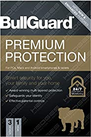 BullGuard Anti Virus-Premium Protection 2021 Edition  1 license supports 3 Multi Devices  1 Year (Email delive