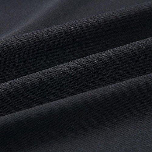 Homebaby Off spalla Estivi Vestiti Casual Donna - Mini Abito Senza Maniche Senza Spalline Eleganti Sottile Sera Abito Lungo Vestito Elegante Completo Vestiti Bordeaux Nero