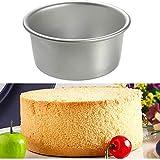 Babettew Herramientas para Hornear de 4/6 Pulgadas para Hornear la Cocina Molde de pudín Molde de Aluminio Molde de pudín Redondo