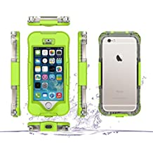 DBIT iPhone SE Custodia Impermeabile,IP68 Certificato Sigillatura Completa Case Anti-sporco Cover Protettiva Waterproof Impermeabile Antiurto per Apple iPhone SE iPhone 5 5s,Verde