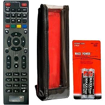 SaleOn Remote Control for GTPL-162 Set Top Box (Black)