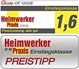 Oberfräse OF 1200 E inkl. 5-teiligem Oberfräser-Satz -