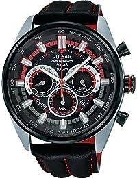 Pulsar Herren-Armbanduhr Sport Chronograph Quarz Leder PX5011X1