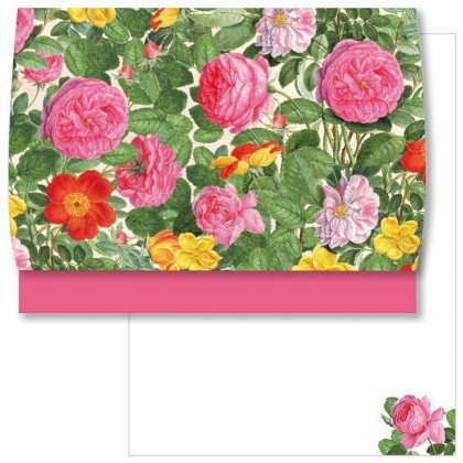 Vitesse d'écriture de papier à lettre motif roses en nassau florilegium