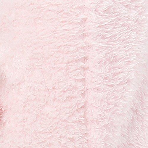 Noble Mount Chaussette Chaussons en Peluche pour Femme Rose
