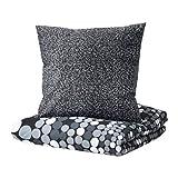 IKEA SMÖRBOLL Bettwäscheset in grau; 2tlg. (155x220cm und 80x80cm); Kopfkissen und Bettbezug; 100% Baumwolle