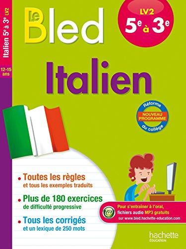 Cahier Bled - Italien LV2 5e-4e-3e par Gabrielle Kerleroux