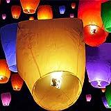 Honestystore® SKY LANTERN PAPER LAMP LIGHT WISH CANDLE LIGHT PARACHUTE HOT BALLOON ( Set of 2 )