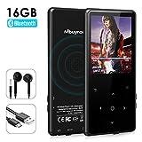 Mbuynow Lettore MP3 Musicale Digitale, HIFI Lettore MP3 Bluetooth 4.0. Lettore Musicale Portatile 16GB Pulsante Tocco Effetto,Registrazione Radio FM, Registratore Vocale, Supporto fino 128GB