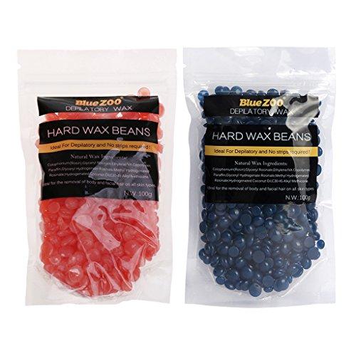 Arm-haar-wachs (Sharplace (2 Packungen Set) Entfernungs- Hard Wax Beans Für Körper, Bikinizone, Achseln, Bein, Arm Haarentfernung (Kamille und Erdbeere))