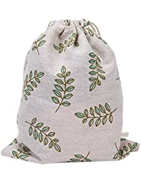 Laat almacenamiento multi-fonctionnels bolsa en lienzo–Bolsa reutilizable para cordón a la écolabel bolsa de Cinch gran capacidad–de hojas de Olive verde