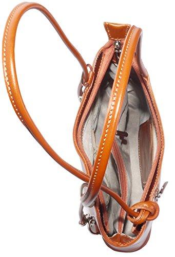 Sac à main, sac à bandoulière ou sac à dos fabriqué à la main en cuir italien.Versions de moyennes et grandes.Comprend un sac de rangement protecteur marque. Moyen Tan