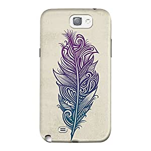 DailyObjects Feather Art Case For Samsung Galaxy Note 2