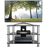 Meuble tele for Finlandek meuble tv mural katso 160 cm coloris blanc et noir