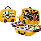 Tosbess Kinder Werkzeugset Werkstatt Spielzeug mit Werkzeugen Bohrmaschinen für Pädagogisches Spielen - Beste Werkzeuge Kit Bank für Kleinkinder, Kinder, Jungs und Mädchen im Alter von 3 - 12 Jahren