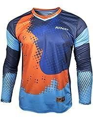 Rinat Hypernova - Jersey de portero, Unisex, Azul oscuro / Azul, talla YS