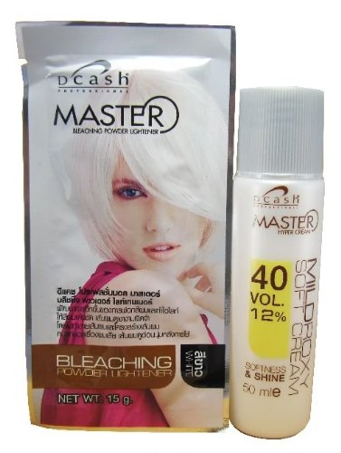 Dcash Master Hair Bleaching Kit (lightening power 15 g. + developer 50 ml.) WHITE color - Bleaching-kits