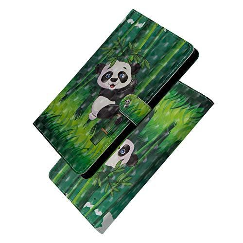ShinyCase Apple iPad Mini 1 2 3 4 /Mini 5 7.9-Zoll -Tablet Hülle, Slim Lightweight Schutzhülle 3D PU Leder Shell Cover Tasche Etui Panda Design Flip Case mit Auto Sleep/Wake up Funktion Ständer