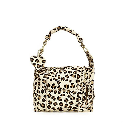 Fab by Fabienne  Fab bag small + LH, Sac baguette pour femme Marron - panther hairy